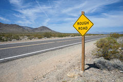 Rough Road Sign Stock Image