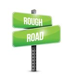 Rough road street sign illustration design Royalty Free Stock Photos