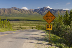Rough road Royalty Free Stock Images