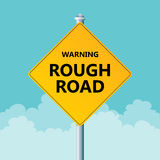 Rough Road Warning Royalty Free Stock Photo