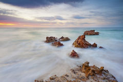 Rough Rocky Seascape Royalty Free Stock Image