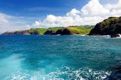 Rough and rocky shore at south coast of Maui, Hawaii. USA Stock Images