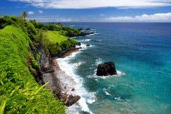 Rough and rocky shore at south coast of Maui, Hawaii. USA Royalty Free Stock Photography