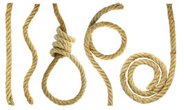 Rough rope. Figures and a loop of rope rough Royalty Free Stock Image