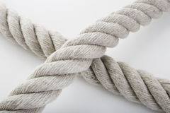 Rough Rope Cross Stock Photography