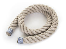 Rough Rope Spiral Stock Photography