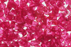 Rough ruby. Beautiful rough ruby stone on white background Stock Images