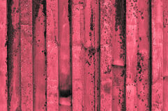 Rough and rusty corrugated iron metal surface red reddish grayis Stock Image