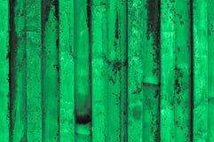 Rough and rusty mint green grayish light greenish corrugated iro Stock Photos