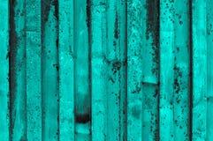 Rough and rusty turquoise grayish grayscale corrugated iron meta Stock Photo