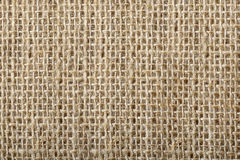Rough sackcloth. Old Sackcloth texture extreme closeup Stock Image