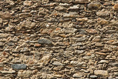 Rough sandstone Wall Royalty Free Stock Photos