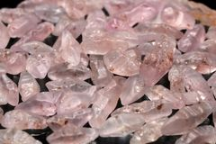 Pink Sri Lanka Gemstone. Rough sapphire from Ratnapura mining area in Sri Lanka Royalty Free Stock Photography