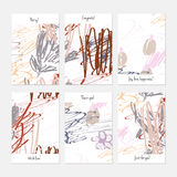 Rough scribbles and abstract berries. Hand drawn creative invitation or greeting cards template. Anniversary, Birthday, wedding, party, social media banners set Stock Image