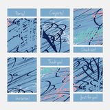 Rough scribbles Royalty Free Stock Images