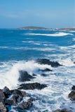 Rough sea. At newquay Royalty Free Stock Photo