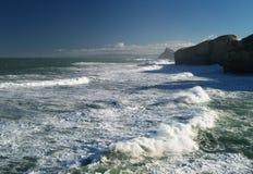 Rough sea. Near Dunedin, New Zealand Royalty Free Stock Image