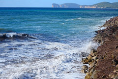 Rough sea in Alghero Stock Images