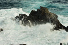 Rough sea. (Atlantic ocean) on the island of Tenerife Royalty Free Stock Photography