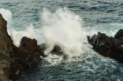 Rough sea. (Atlantic ocean) on the island of Tenerife stock photo