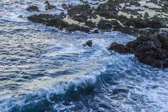 Rough sea. Atlantic ocean - waves - rocks - no people Stock Photography