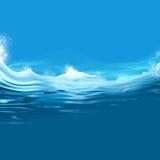 Rough sea background illustration Royalty Free Stock Photo