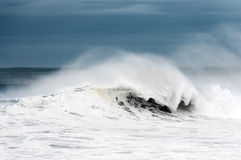 Rough sea with big wave breaking Stock Image