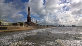 Rough Sea at Blackpool Stock Photo
