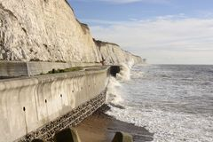 Rough sea at Brighton. England Stock Images