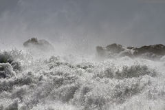 Rough sea on the coast Royalty Free Stock Photo
