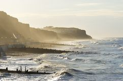 Rough sea at Cromer Royalty Free Stock Photos
