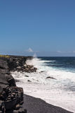 Rough sea at Kalapana Beach, Hawaii Stock Photography