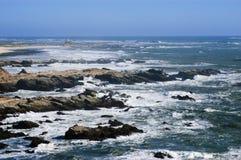 Rough sea. Off the coast of the island mocha, region of biobio. Chile Stock Photos