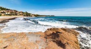 Rough sea in Piccolo Pevero beach. Sardinia Stock Photo