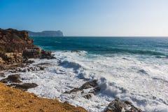 Rough sea in Porto Ferro shore Royalty Free Stock Image