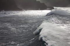 Rough Sea in Puerto de la Cruz Royalty Free Stock Photos
