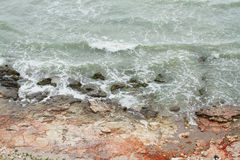 Rough sea shore Royalty Free Stock Photography