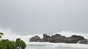 Rough sea during storm stock video footage