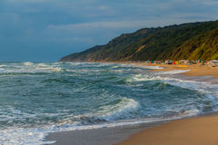 Rough sea at sunrise Royalty Free Stock Photo
