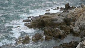 Rough sea stock video footage