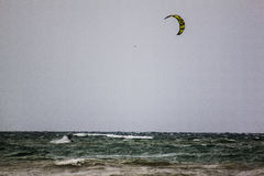 Rough sea with windsurfist, Italy, second Stock Image