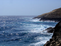 Rough Seas. Southern Coast of Malta during rough seas Stock Image