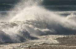Rough seas. Dramatic Atlantic surf on a beach on the cost of Namibia Royalty Free Stock Photos