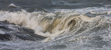 Rough Seas. At Holyhead Breakwater with waves crashing over the rocks Stock Photography
