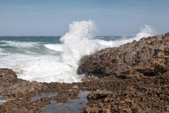 Rough seas along sicilian coast Royalty Free Stock Images