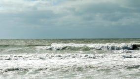 Rough seas crashing waves, 4K stock video footage