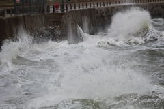 Rough Seas Inshore Stock Image