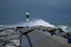 Rough Seas on Lake Michigan Stock Photos