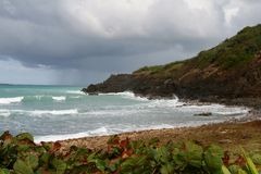 Rough seas in Puerto Rica Stock Photography