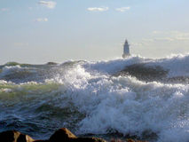 Rough Seas at Sakonnet Point Stock Image